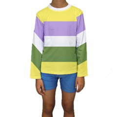 Bin Stripes Kids  Long Sleeve Swimwear