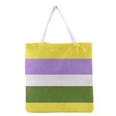 Bin Stripes Grocery Tote Bag