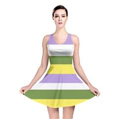 Bin Stripes Reversible Skater Dress