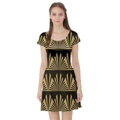 Art Deco Short Sleeve Skater Dress