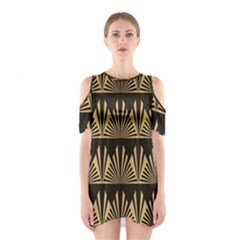 Art Deco Shoulder Cutout One Piece