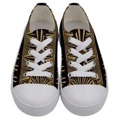 Art Deco Kids  Low Top Canvas Sneakers