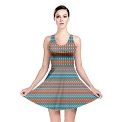 Winter Pattern 1 Reversible Skater Dress