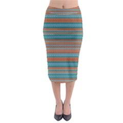Winter Pattern 1 Midi Pencil Skirt