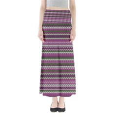 Winter Pattern 2 Full Length Maxi Skirt