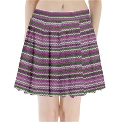 Winter Pattern 2 Pleated Mini Skirt