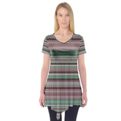 Winter Pattern 3 Short Sleeve Tunic