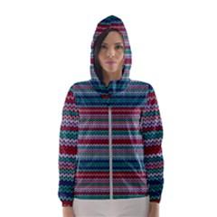 Winter Pattern 4 Hooded Wind Breaker (women)