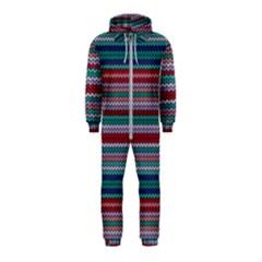 Winter Pattern 4 Hooded Jumpsuit (kids)