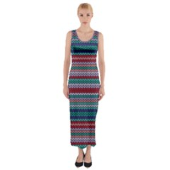 Winter Pattern 4 Fitted Maxi Dress