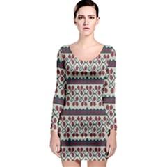 Winter Pattern 5 Long Sleeve Bodycon Dress
