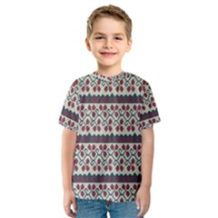Winter Pattern 5 Kids  Sport Mesh Tee