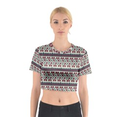 Winter Pattern 5 Cotton Crop Top