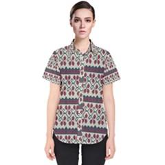 Winter Pattern 5 Women s Short Sleeve Shirt