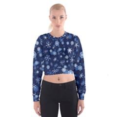 Winter Pattern 8 Cropped Sweatshirt