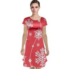 Winter Pattern 9 Cap Sleeve Nightdress