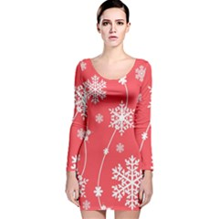 Winter Pattern 9 Long Sleeve Velvet Bodycon Dress
