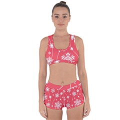 Winter Pattern 9 Racerback Boyleg Bikini Set