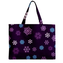 Winter Pattern 10 Zipper Mini Tote Bag