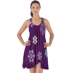 Winter Pattern 10 Show Some Back Chiffon Dress