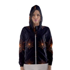 Winter Pattern 11 Hooded Wind Breaker (women)