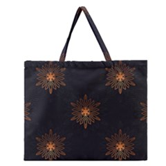 Winter Pattern 11 Zipper Large Tote Bag
