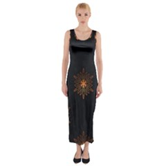Winter Pattern 11 Fitted Maxi Dress