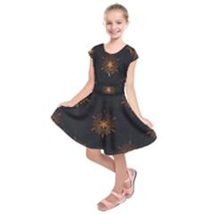 Winter Pattern 11 Kids  Short Sleeve Dress