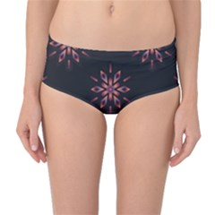 Winter Pattern 12 Mid Waist Bikini Bottoms
