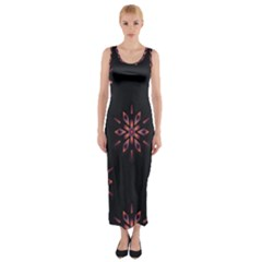 Winter Pattern 12 Fitted Maxi Dress