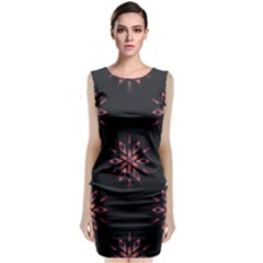 Winter Pattern 12 Classic Sleeveless Midi Dress