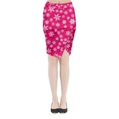 Winter Pattern 13 Midi Wrap Pencil Skirt