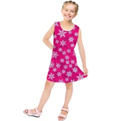 Winter Pattern 13 Kids  Tunic Dress