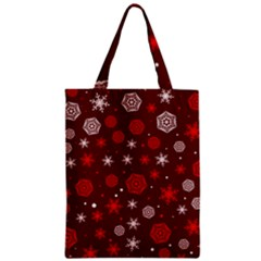 Winter Pattern 14 Zipper Classic Tote Bag