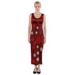 Winter Pattern 14 Fitted Maxi Dress