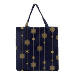 Winter Pattern 15 Grocery Tote Bag