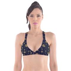 Winter Pattern 15 Plunge Bikini Top
