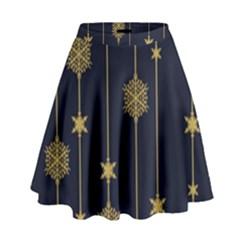 Winter Pattern 15 High Waist Skirt