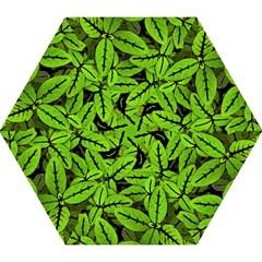 Nature Print Pattern Mini Folding Umbrellas