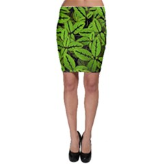 Nature Print Pattern Bodycon Skirt