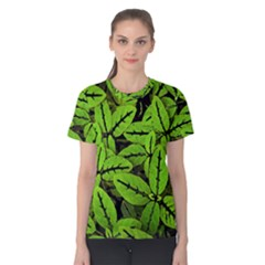 Nature Print Pattern Women s Cotton Tee