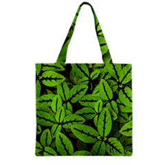 Nature Print Pattern Grocery Tote Bag