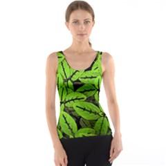 Nature Print Pattern Tank Top