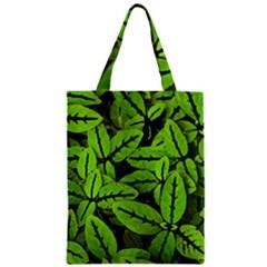 Nature Print Pattern Zipper Classic Tote Bag