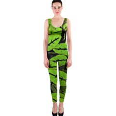 Nature Print Pattern Onepiece Catsuit