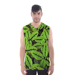 Nature Print Pattern Men s Basketball Tank Top