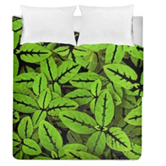 Nature Print Pattern Duvet Cover Double Side (queen Size)