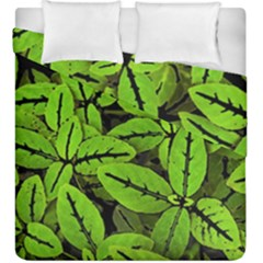Nature Print Pattern Duvet Cover Double Side (king Size)