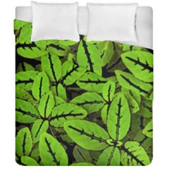 Nature Print Pattern Duvet Cover Double Side (california King Size)