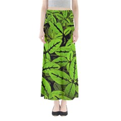 Nature Print Pattern Full Length Maxi Skirt